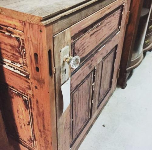 Reclaimed door small cupboard