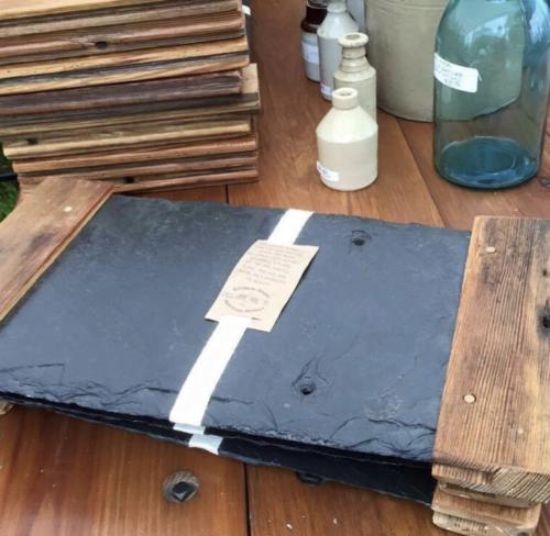 Reclaimed Slate and Wood Cheese Board