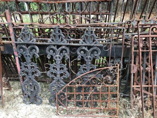 Assortment of iron fences