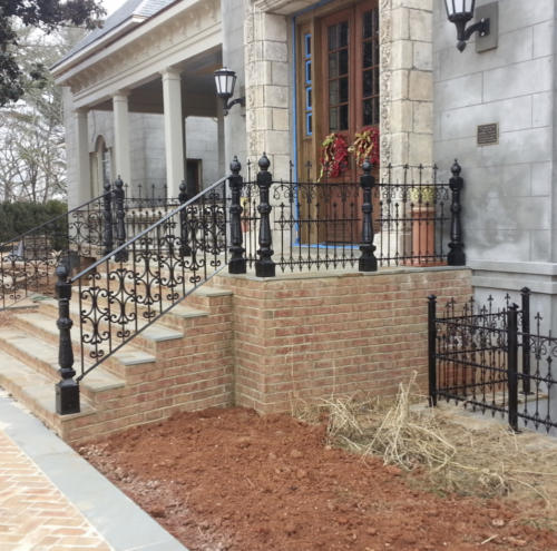 Completed iron fencing fabrication job
